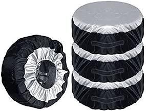 IUMÉ Set of 4 Wheel Tire Covers,Tire Protectors,UV Sun Waterproof RV Trailer Tire Protectors,Fits 30