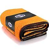 Filzada® 1x Orange - Toalla Secado Coche Microfibra (60x90 cm) - Increíble Potencia de succión - Secado Coche - Microfibra Coche para Cuidado Profesional del Coche