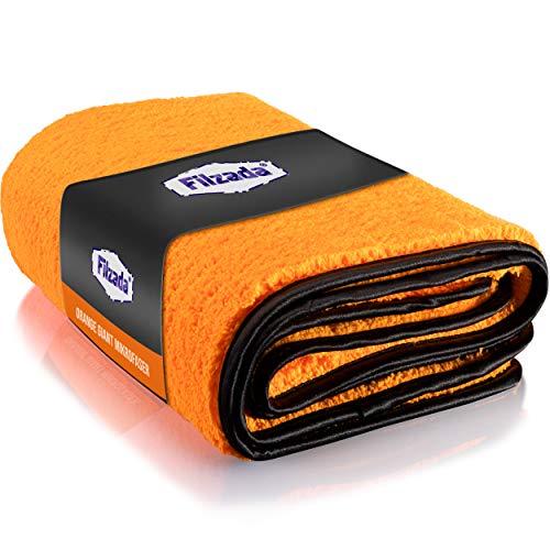 Filzada® 1x Orange Giant Auto Trockentuch XXL (60 x 90 cm) - Mikrofasertuch Auto mit unfassbarer Saugkraft - fusselfreie Microfaser Handtücher mit Feinstfaser für eine professionelle Autopflege