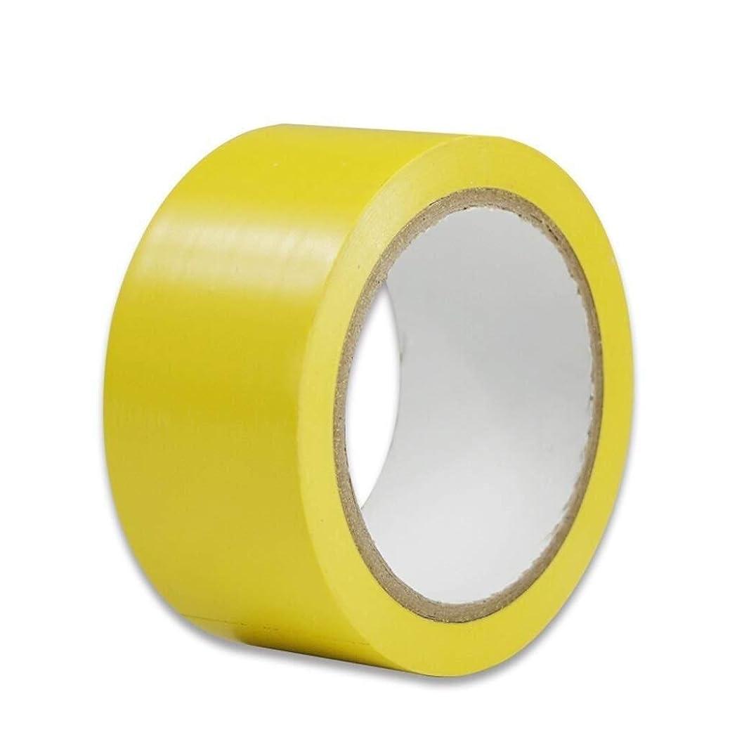 驚いたことに花嫁読みやすい粘着危険警告テープ床マーキングテープバスケットボールコートマーキングテープエリア分割テープバドミントンコートマーキングタップ緑/赤/黄/黄黒(色:黄)装飾テープ