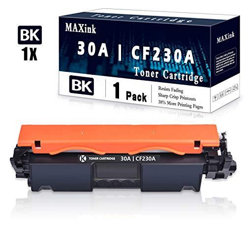 1 Pack Black 30A | CF230A Toner Cartridge Replacement for HP Laserjet Pro M203dn M203dw M203d MFP M227sdn MFP M227fdw MFP M227fdn HP Laserjet Ultra MFP M230sdn M230fdw Printer
