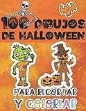 100 dibujos de Halloween para recortar y colorear: Actividades y Aprendizaje Para Niños - Un libro...