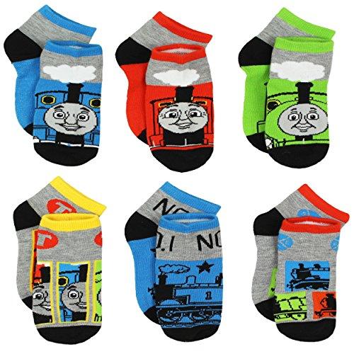 Thomas Train Boys 6 pack Socks (Shoe: 7-10 (Sock: 4-6), Thomas Grey/Multi)
