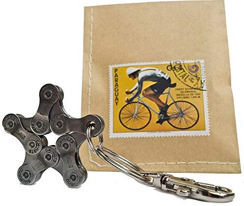 Schlüsselanhänger Bike Star Fahrrad Geschenk Stern Radsport Rennrad Mountainbike BMX Accessoire Geschenkidee