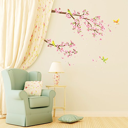 DECOWALL 桜と鳥 ウォール ステッカー