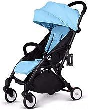 Silla de paseo plegable y liviana, silla de paseo con amortiguador, silla de paseo reclinable, silla de paseo de gran altura, silla de paseo con amortiguador de cuatro ruedas, para niños de 0 a 3 años