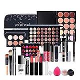 Kit de Paleta de Maquillaje Profesional, Kit de Inicio cosmético, Paleta de Maquillaje de Viaje portátil, Juego cumpleaños, tamaño Completo, Sombra de Ojos en Polvo