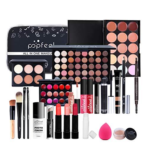 All-in-One Makeup Gift Set Trucco, 24PCS Makeup Essential Starter Kit, Make-up Gift Set Trucco Cosmetici Palette di trucco All in One Makeup Kit per gli occhi e le labbra del viso