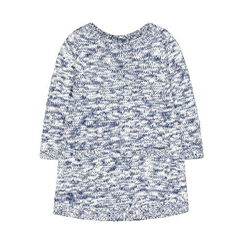 Mothercare MG PB Grey Twisted Yarn Knit Dress Robe, Noir (Stripe 119), 24-36 Months (Size:98) Bébé Fille