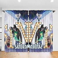カーテン Sing/シング1 1級遮光2枚組 断熱 防寒 防音 おしゃれ 厚手 洗える 寝室 リビング用 (幅132m×丈183cm)