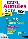 Maxi Annales ABC du Bac 2019 - Terminale ES