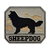 Morton Home 'Sheepdog' Hook and Loop Patch Tactical Morale Military Combat Armband Clothing Badge for Jackets Jeans Hat Cap (ACU)