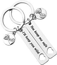 Lywjyb Birdgot You Keep Me Safe I'll Keep You Wild Pinky Promise Keychain Set Mother Daughter Gift Best Friend Keychain Set