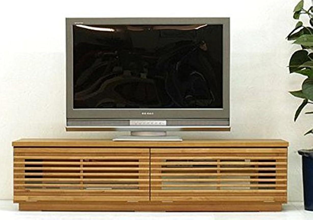 予言する未使用悲観的日本製 和風 幅150cm ロータイプテレビボード 完成品 (ライトブラウン)