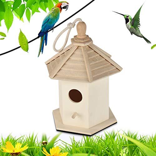 AYRSJCL Cages d'oiseaux Nids DOX Oiseaux en Bois Maison Hanging Nest Bird House Bird House Box Boîte en Bois Nichoirs Accessoires pour Animaux d'alimentation