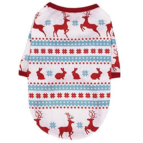 HJFDEW Bonita Ropa para Perros, Disfraz de Navidad para Perros, Ropa de Invierno, Camisa para Perros, Ropa de Navidad para Cachorros, Ropa para Perros pequeos y medianos