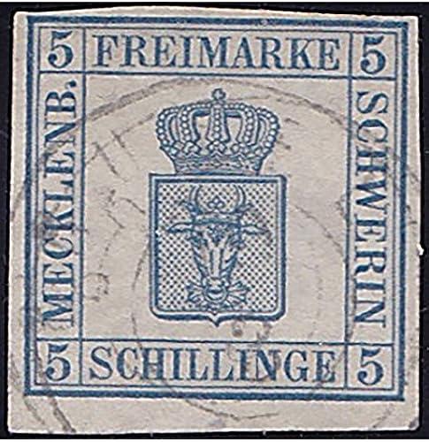 Goldhahn Mecklenburg-Schwerin Nr. 3 gestempelt geprüft Briefmarken für Sammler