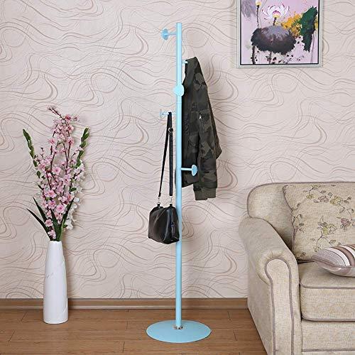 POETRY Coat stand ijzeren kapstok Europese stijl stand opknoping hanger slaapkamer woonkamer stand hanger moderne eenvoud 169 * 36cm A ++ (kleur: blauw)