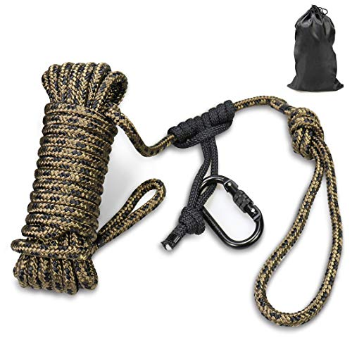 Huntury Treestand Lifeline Rope, for Climbing Stand, Hanging Ladder Stand Or Treestand, Bow Hunting Lifeline, Fall Protection from Shooting On Stand, 30Feet