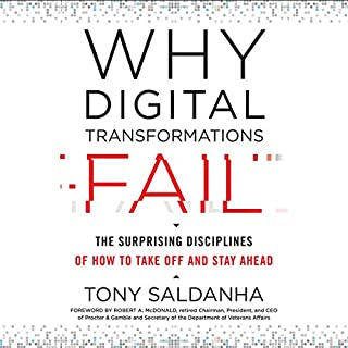 Why Digital Transformations Fail: The Surprising Disciplines of How to Take off and Stay Ahead audiobook cover art