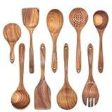 Utensilios de cocina de madera Set de cocina Spática Herramientas Kit Turners Cuchara Hornear Utensilios de cocina Ustensile Cocina (Color : 9pcs)