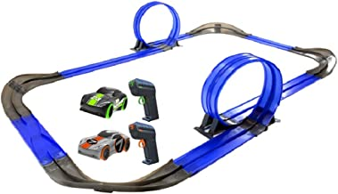 Tracer Racers R/C High Speed Remote Control Super Loop Speedway Glow Track Set with Two..