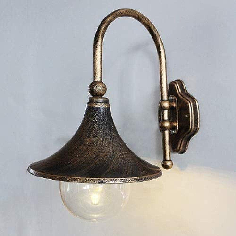 LZQ Europische Wasserdichte Auenwandleuchte, Antike Dekorative Beleuchtung E27   Flurgartenbalkon