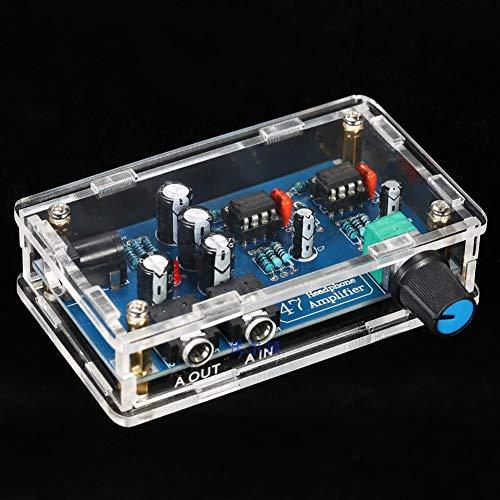 SunniY DIY Amplifier Kit, Kopfhörerverstärker Röhrenverstärker Board Vorverstärker Für Lautstärkeregelung HiFi Verstärker Bausatz Mit Transparentem Gehäuse