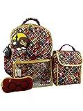 Harry Potter Girls Boys Teen 5 piece Backpack and Snack Bag School Set