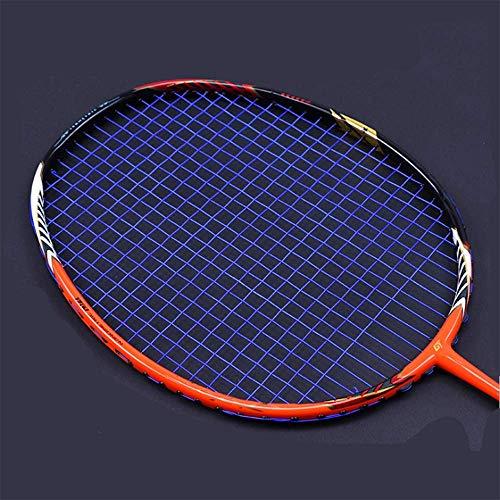 QIAO Badminton-Schläger, Full-Carbon-Badminton-Schläger echt, Ghost Chop Rahmen, Offensive Profi-Schläger,Blue
