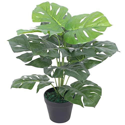 vidaXL Künstliche Monstera-Pflanze mit Topf 45cm Grün Kunstpflanze Kunstbaum