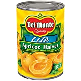 Del Monte Canned Apricot Halves in Extra Light Syrup, 14.5 Ounce (Pack of 12)