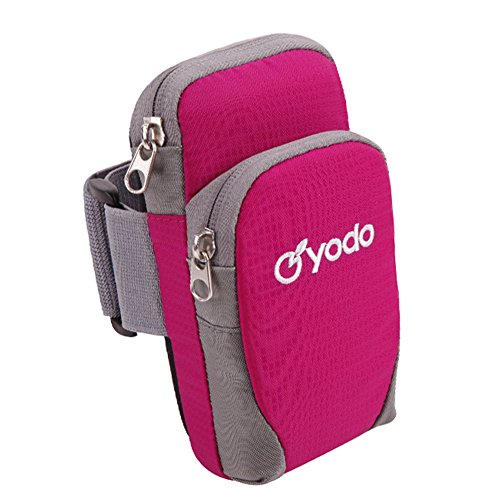 Forus Outdoor Sporting cellulari iPod MP3MP4fotocamera del supporto con cerniera per montaggio a correre trekking escursionismo ciclismo Strolling bracciale, Rose