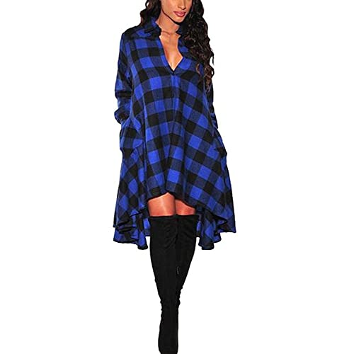 Plus Size Plaid Dress: Amazon.com