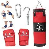 Boxsack Set Heavy Duty Vierpunkt-Stahlkette Oxford-Stoff Punchingsäcke Ungefüllt Hängende Boxsack...