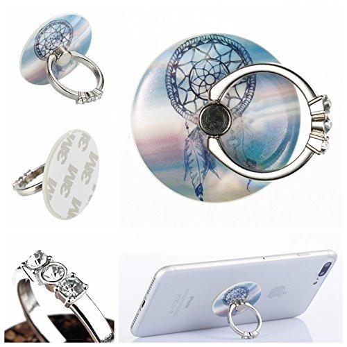 Alfort Anillo-Soporte para teléfono, 360° Crystal Grip, Soporte para teléfono móvil, para iPhone, Samsung, Sony, Huawei y Otros teléfonos, tabletas (Campanas de Viento de fantasía)