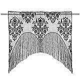 Amosfun Halloween Door Curtain Skull Lace Curtain Wall Hanging Curtain Halloween Indoor Outdoor Decor Supplies Background Props