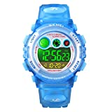 Digital Watch for Boys, Blue Kids Digital Sports Waterproof Watches with Alarm Stopwatch, Children Outdoor Analog Electronic Watches Birthday Presents Gifts for Age 4-12 Year Old Boys Girls