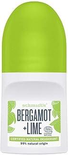 Schmidt's Bergamot and Lime dermatologically proven Natural Deodorant Roll On for sensitive skin 50ml