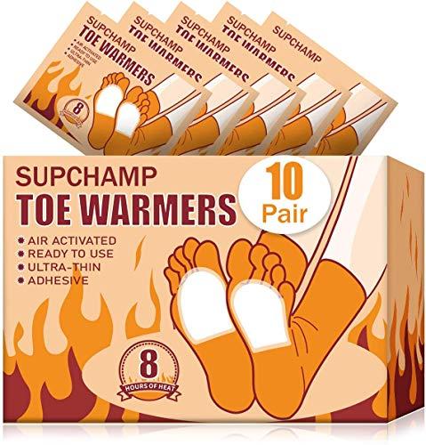 Supchamp Calentadores de Pie, 10 Pares Calentador para Dedos de Los pies...