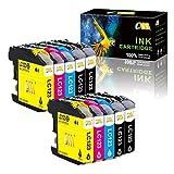 CMCMCM Compatible para Cartuchos de Tinta Brother LC123 LC123XL de para DCP J152W J552DW J132W J172W J4110DW MFC J4510DW J470DW J6920DW J6520DW J650DW J6720DW (4 Negro 2 Cian 2 Magenta 2 Amarillo)