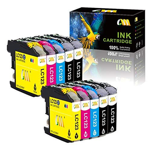 CMCMCM Compatible para Cartuchos de Tinta Brother LC123 LC123XL de Repuesto para DCP-J152W J552DW J132W J172W, J4110DW MFC-J4510DW J470DW J6920DW J6520DW J650DW J6720DW J4610DW J870DW (4B/2C/2M/2Y)