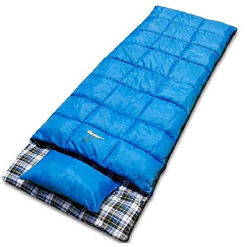 DLSM Sac de Couchage extérieur Flanelle Pur Coton Peut être Cousu Camping Camping Chaud déjeuner Pause enveloppe Chapeau Sac de Couchage