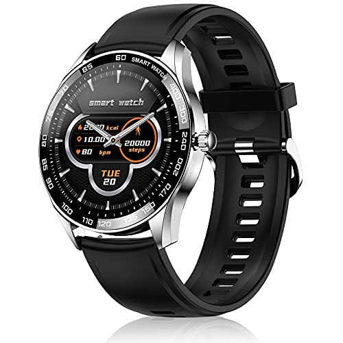 LIYIFANKJ Reloj inteligente Hombres Smartwatch Rastreador de Fitness 1,32 pulgadas IP67 Impermeable Pulsómetros Podómetro Calorías Compatible con Android iOS