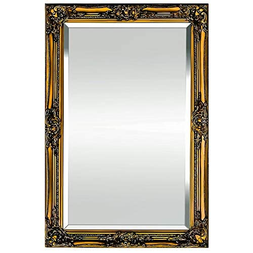 221eb65af12f Rococo by Casa Chic Solid Wood - Shabby Chic Wall Mirror - Large - 90x60  Centimetres