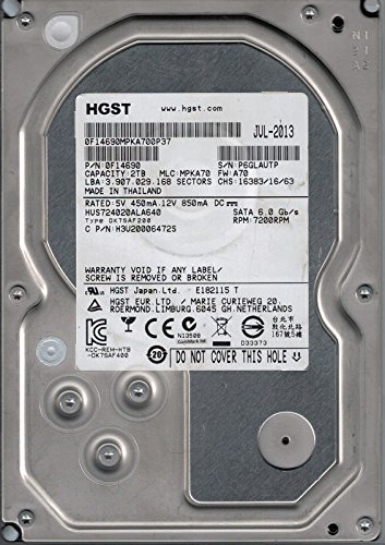 HUS724020ALA640P/N: 0F14690MLC: mpka702TB HGST