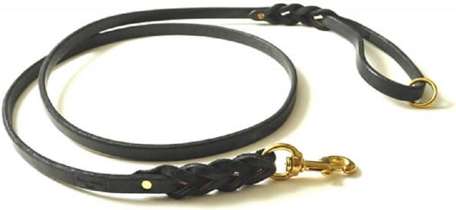 Ranking TOP14 Redline K9 Braided Latigo Heavy Duty Inexpensive Leather Dog 3 4-Inch Leashe