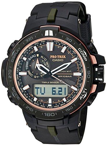 Casio - Orologio sportivo da uomo, al quarzo, in acciaio inossidabile e resina, colore: nero (modello: PRW-S6000Y-1CR)