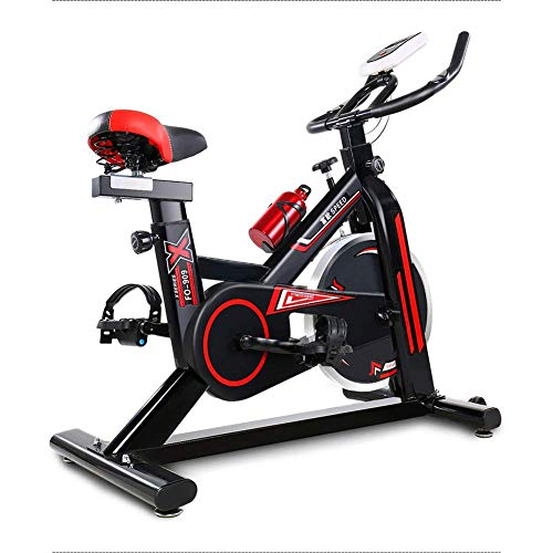CRYPCP Fitness Profesional Spinning Bike- Home Mute Ejercicio Interior Fitness Pedal Bicicleta...