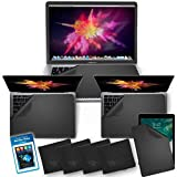 CLEAN SCREEN WIZARD Microfiber Keyboard Covers, Screen Protectors, Screen Cleaner Kit for MacBook Pro 16, 15, 13, Mac Air 13 and Laptops Multi Size Screens- 5 Pack Cloths and Sticker